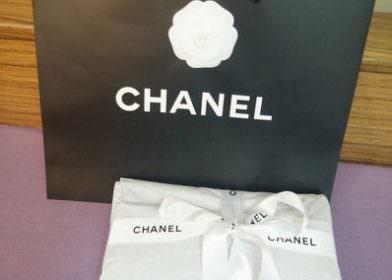 CHANEL, Small Leather Goods-黑色亮粉荔枝牛皮四合一手拿包開箱文
