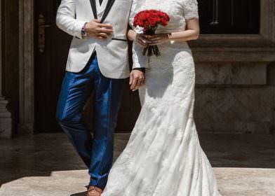 浮誇新娘18件婚紗禮服與悶騷新郎的11套Look及租借品牌分享!!!